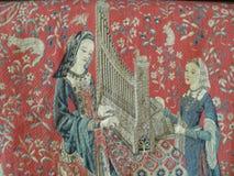 Middeleeuwse borduurwerkreplica Royalty-vrije Stock Afbeelding