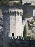 Middeleeuwse borstweringen in Avignon, Frankrijk Stock Fotografie