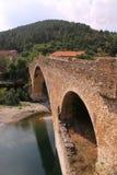 Middeleeuwse brug in Frankrijk Stock Foto