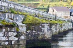 Middeleeuwse brug in Galicië Spanje Royalty-vrije Stock Fotografie