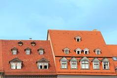 Middeleeuwse daken in Thuringia Royalty-vrije Stock Afbeeldingen