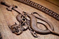 Middeleeuwse demon - 11de eeuw stock afbeeldingen