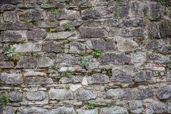 Middeleeuwse die muur van stenen wordt gemaakt Royalty-vrije Stock Foto