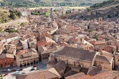 middeleeuwse dorpen van Spanje, Daroca in de provincie van Zaragoza Stock Afbeeldingen