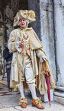 Middeleeuwse Edelman - Venetië Carnaval 2014 Royalty-vrije Stock Fotografie