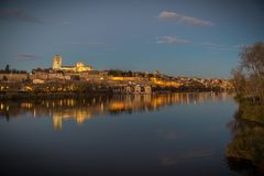 Middeleeuwse en historische stad in het centrum van Spanje Royalty-vrije Stock Afbeeldingen