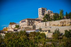 Middeleeuwse en historische stad in het centrum van Spanje Royalty-vrije Stock Fotografie