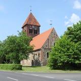Middeleeuwse fieldstonekerk in Duitsland Royalty-vrije Stock Foto