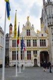 Middeleeuwse gebouwen stock foto's