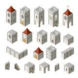 Middeleeuwse gebouwen Stock Afbeeldingen