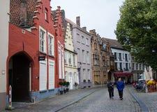 Middeleeuwse Gebouwen België royalty-vrije stock foto's