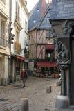 Middeleeuwse gebouwen in de oude stad reizen frankrijk stock fotografie