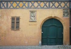 Middeleeuwse Gele Voorgevel Bamberg royalty-vrije stock foto's