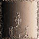 Middeleeuwse glanzende ridder & x28; Koperhulp effect& x29; royalty-vrije illustratie