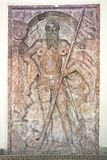 Middeleeuwse grafsteen in Oostenrijk stock afbeelding