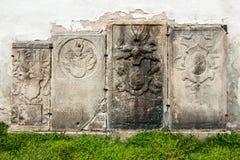 Middeleeuwse grafstenen van de 17de eeuw Royalty-vrije Stock Afbeeldingen
