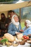 Middeleeuwse handelaar Stock Afbeelding