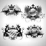 Middeleeuwse heraldische schilden Stock Foto's