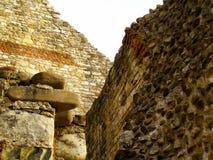 Middeleeuwse het kasteelstenen van het ruïnes oude fort Royalty-vrije Stock Afbeelding