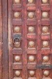 Middeleeuwse houten deur Stock Foto's