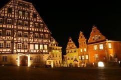 Middeleeuwse huizen Stock Afbeelding