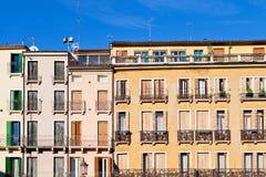 Middeleeuwse huizen in Padua Italië Stock Afbeelding