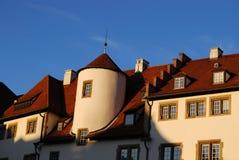 Middeleeuwse huizenbuitenkant, Stuttgart, Duitsland Royalty-vrije Stock Afbeeldingen