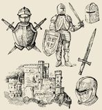 Middeleeuwse inzameling Stock Afbeeldingen