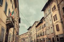 Middeleeuwse Italiaanse Stad - Pisa, Italië stock foto's