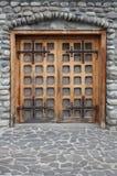 Middeleeuwse kasteeldeur royalty-vrije stock fotografie