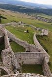 Middeleeuwse kasteelmuren Stock Afbeelding