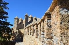 Middeleeuwse kasteelmuur Stock Foto