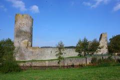 Middeleeuwse kasteelruïne Royalty-vrije Stock Afbeelding