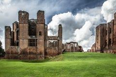 Middeleeuwse Kasteelruïnes, Kenilworth, Warwickshire, het Verenigd Koninkrijk stock afbeeldingen