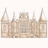 Middeleeuwse kasteelschets Royalty-vrije Stock Fotografie