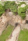 Middeleeuwse kasteelwerf royalty-vrije stock fotografie