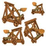 (Middeleeuwse) katapult Stock Afbeelding
