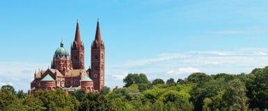 Middeleeuwse kathedraal in Kroatië stock foto