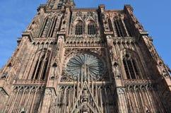 Middeleeuwse Kathedraal van Straatsburg in Frankrijk Royalty-vrije Stock Foto's