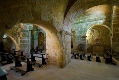 Middeleeuwse kerk Stock Afbeeldingen