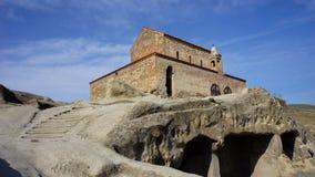 Middeleeuwse kerk in Georgië stock foto's