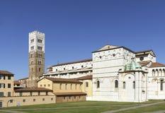 Middeleeuwse kerk van San Michele de in foro in Luca royalty-vrije stock afbeelding