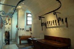 Middeleeuwse keuken/van de Slager \ 's- Lijst Royalty-vrije Stock Foto's