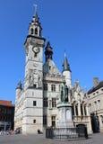 Middeleeuwse Klokketoren, Aalst, België stock foto's