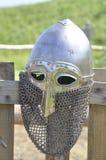 Middeleeuwse knight'shelm Royalty-vrije Stock Fotografie