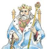 Middeleeuwse koning Stock Afbeelding
