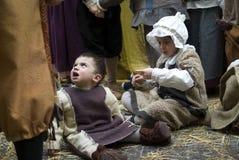Middeleeuwse kostuumpartij Royalty-vrije Stock Foto