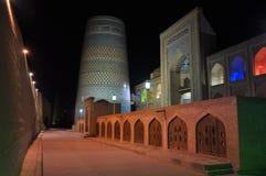 Middeleeuwse Moskee in de stad van Khiva, Oezbekistan Stock Fotografie