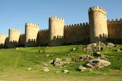 Middeleeuwse muur Stock Afbeeldingen