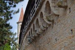 Middeleeuwse Muur in Duitsland Stock Afbeeldingen